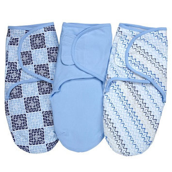NoJo - Just Swaddled - Tribal 3-Pack Secure-Me Swaddle Blankets.