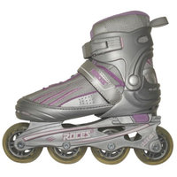 American Athletic Shoe Co Girls' Roces Adjustable Inline Skates - Silver/ Purple (Large)