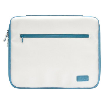 iLuv Roller - Soft Padded sleeve for iPad 3 - White/Blue iCC835WBLU