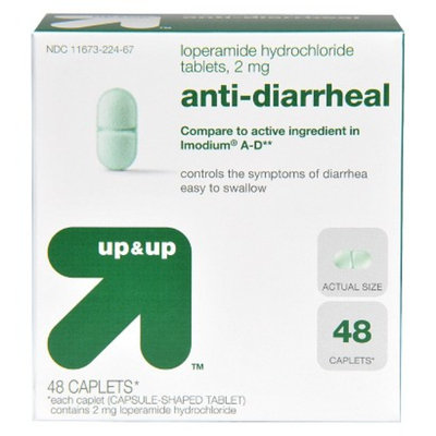 up & up up&up Loperamide Anti-Diarrheal Caplets - 48 Count