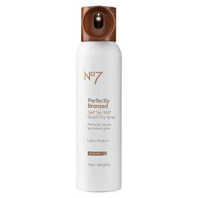 Boots No7 Perfectly Bronzed Self Tan Quick Dry Spray (Light) - 4.23 oz
