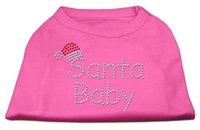 Mirage Pet Products 522510 XXLBPK Santa Baby Rhinestone Shirts Bright Pink XXL 18