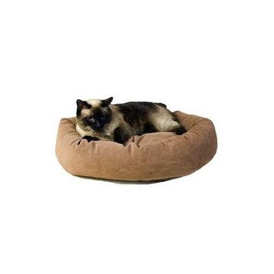 Everest Pet Carolina Pet Company Medium Microfiber Bagel Bed - Caramel 1478