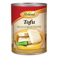 Roland Tofu Bean Curd in Water, 19-Ounce (Pack of 24)