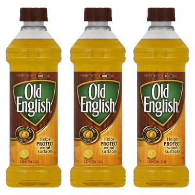 OLD English Polish (Oil) - Lemon, 16 Ounces, 3 Pack