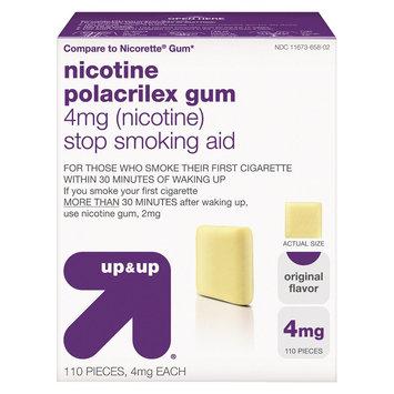 up & up Nicotine Gum 4mg Original - 110 Count