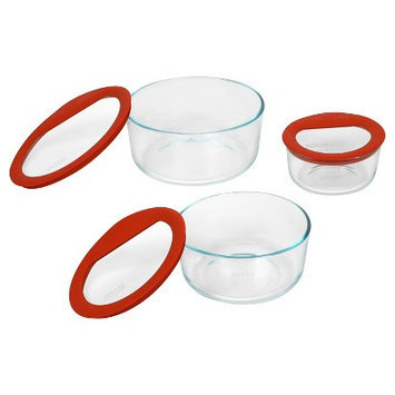 Pyrex Glass Storage, 6 Pieces - 6-piece set
