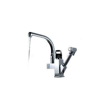 Centerset Contemporary Two Spouts Kitchen Faucet