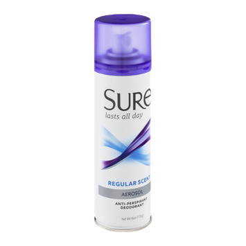 Sure Aerosol Anti-Perspirant Deodorant Regular Scent