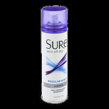Sure Aerosol Anti-Perspirant Deodorant Regular Scent