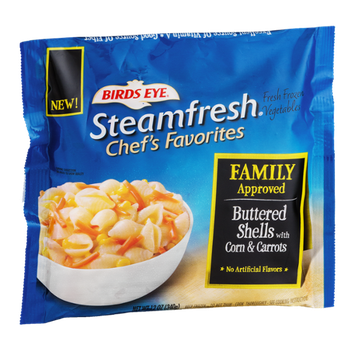 Birds Eye Steamfresh Chef's Favorites Buttered Shells With Corn & Carrots