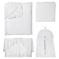 Sweet Jojo Designs Eyelet 11-Piece Crib Bedding Set in White