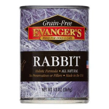 Evangers 776411 Grain Free Rabbit 12-13 Oz. Dog-Cat Pack of 12
