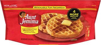 Aunt Jemima Frozen Breakfast Waffles Homestyle