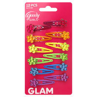 Goody Products Inc. Girls Flower Charm Snap Clips, 12 pcs