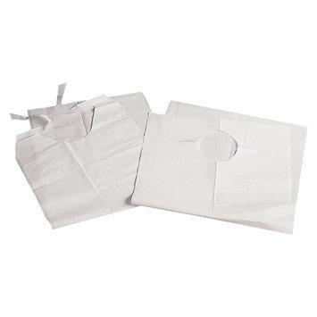 MEDLINE White BIB, PLASTIC, CRUMB CATCHER,16