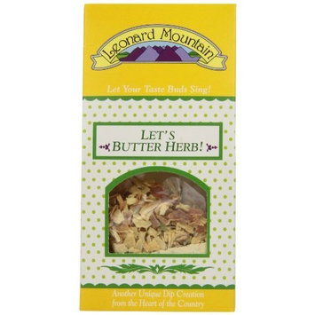 Leonard Mountain Let's Butter Herb! super Veggie Dip, 1.75-Ounce. Boxes (Pack of 6)