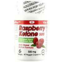 Vita Plus Raspberry Ketone Capsules, 500 mg, 60 Count