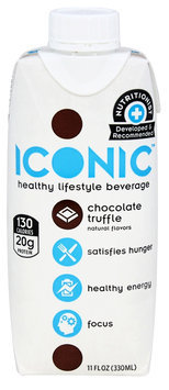 Iconic - Healthy Lifestyle Beverage Protein Drink Chocolate Truffle - 11 oz.