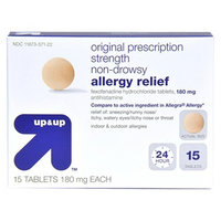 up & up Allergy Relief Tablets 180mg - 15ct