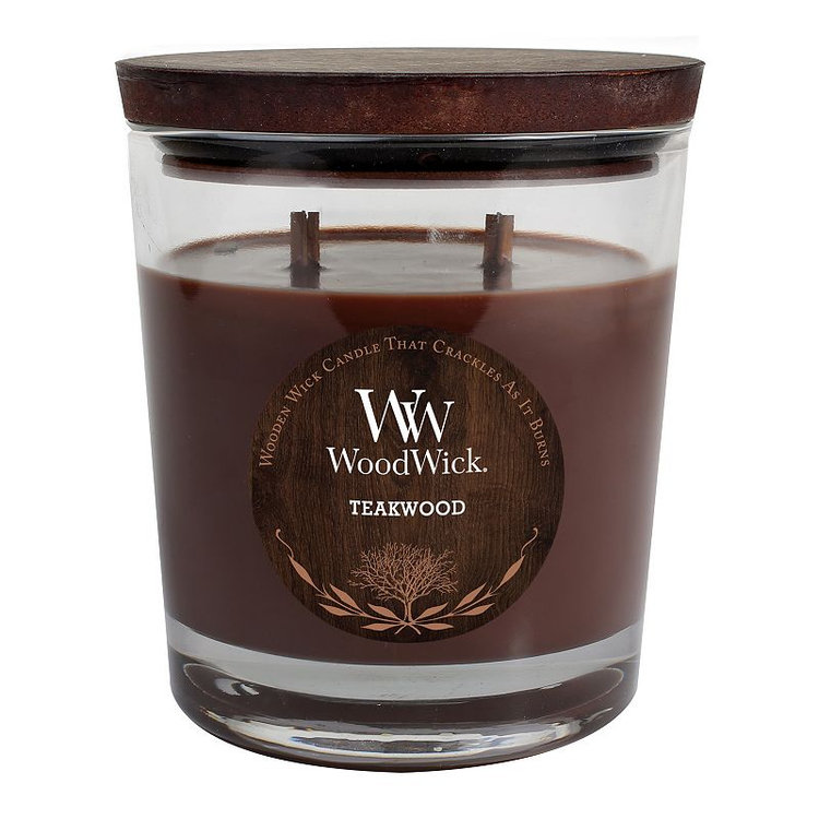 WoodWick Teakwood 17.2-oz. Jar Candle (Brown)