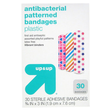 Up & Up UP BANDAGE 30CT ASST ANIMAL PRINT