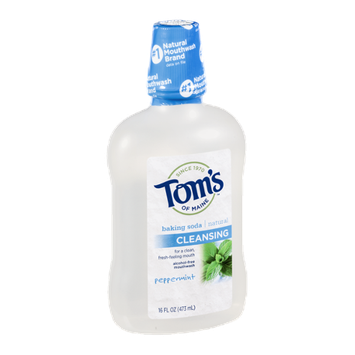 Tom's Of Maine Cleansing Alcohol-free Mouthwash Peppermint