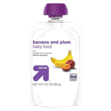 up & up Baby Food - 2nd Stage - Banana and Plum - 3.5 oz