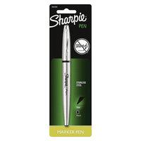Sharpie 1ct Black Stainless barrel Felt tip Marker Pen
