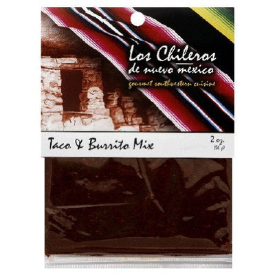 Los Chileros Taco and Burrito Mix, 2 Ounce (Pack of 12)
