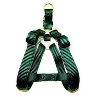 Hamilton Adjustable Easy-On Step-In Style Dog Harness, 3/4-Inch by 20-30-Inch, Medium, Dark Green