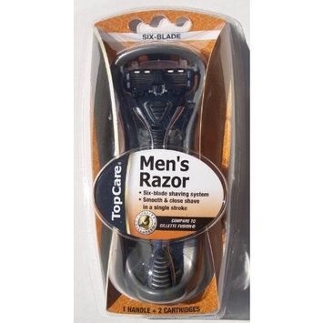 Top Care Six-blade Men's Razor (1 Handle, 2 Cartridges) 1 ea.