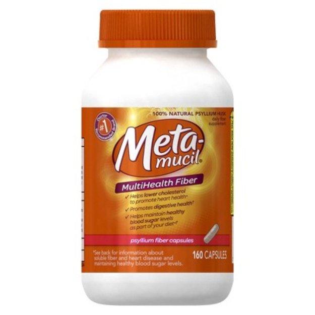 Metamucil Daily Fiber Supplement Capsules - 160 Count