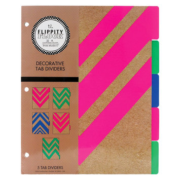 Carolina Pad & Paper Company Flippity Flock 5ct Decorative Tab Dividers