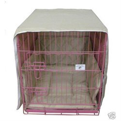 Petbedcratecover 24 Khaki Casual Pet Bed Crate Cover Bumper Cratewear