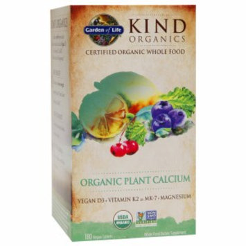 Garden of Life KIND Organics Plant Calcium, Vegan Tablets, 180 ea