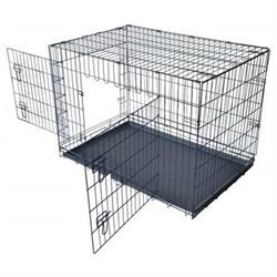 Bestpet 36 Pet Folding Dog Cat Crate Cage Kennel w/ABS Tray LC