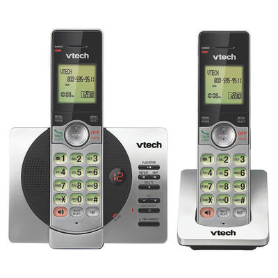 VTech DECT 6.0 Cordless Phone System (CS6529-2B) with Answering