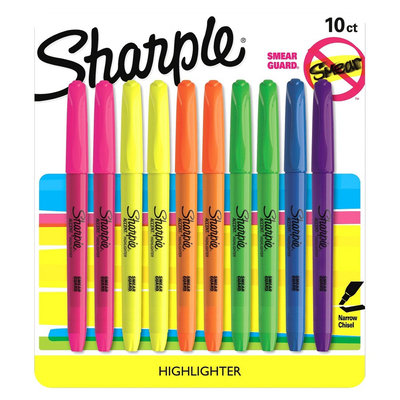 Sharpie Accent 10ct Highlighter - Multicolor