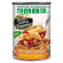 Health Valley 01768 Health Valley Pasta Fagioli Low Sodium- 12x15 Oz