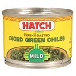 Hatch Farms, Inc. 50113 Hatch Farms Green Chilies, Mild, Diced -24x4 Oz