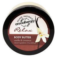 Village Naturals Aromatherapy Relax Body Butter - 8 oz