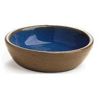Ethical Stoneware Dish Striped Stoneware 5x2 Inch 6119