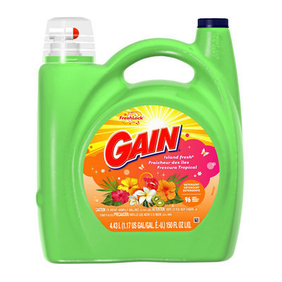 Gain With FreshLock Island Fresh Liquid Detergent 96 Loads 150 Fl Oz