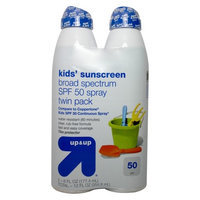 Up & Up Kids Sunscreen Broad Spectrum Twinpack SPF 50 2-6oz