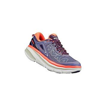 Hoka One One Women's W Bondi 4 Running Shoe [Grey/Hawaiian Ocean, 7 B(M) US]