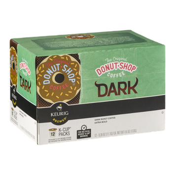 The Original Donut Shop Coffee Extra Bold Dark Roast K-Cup Packs - 12 CT