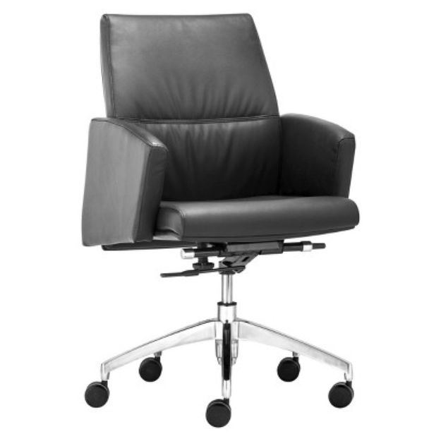 Office Chair: Zuo Modern Chieftain Low Back Office Chair - Black