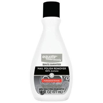Equate Beauty 100% Acetone Nail Polish Remover, 6 fl oz