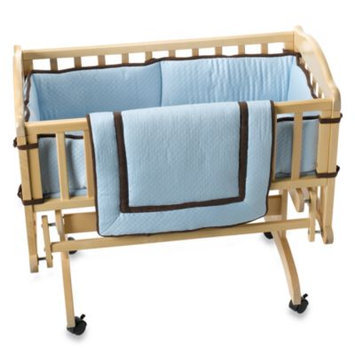 Kids Line 3 Pc Cradle Sets - Blue/Chocolate